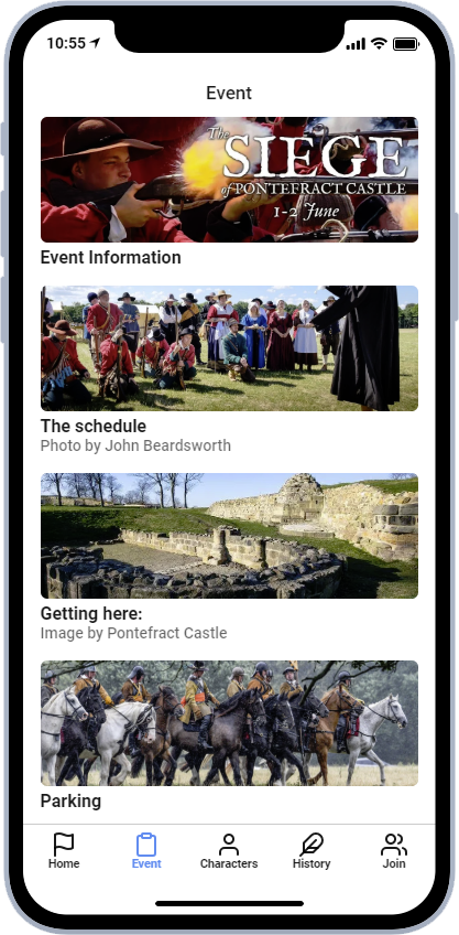Open the Siege of Pontefract Castle app! – The Earl of Manchester's